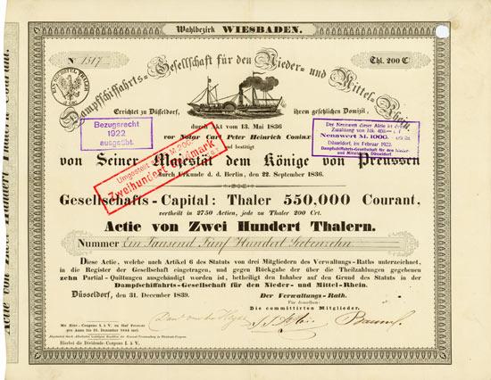 Dampfschiffahrts-Gesellschaft für den Nieder- und Mittelrhein - Wahlbezirk Wiesbaden