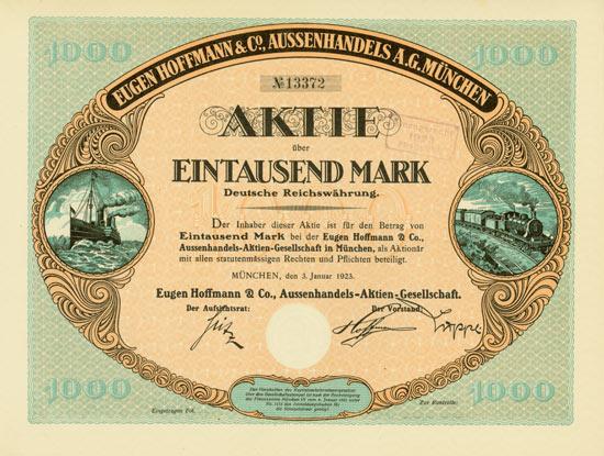 Eugen Hoffmann & Co. Aussenhandels-AG [Multiauktion 2]