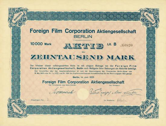 Foreign Film Corporation AG