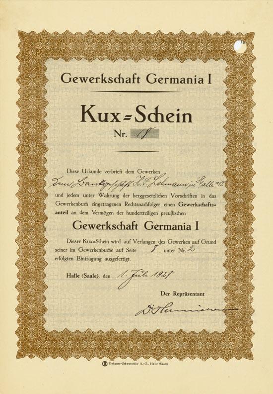 Gewerkschaft Germania I