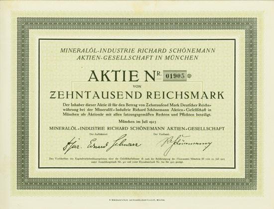 Mineralöl-Industrie Richard Schönemann AG