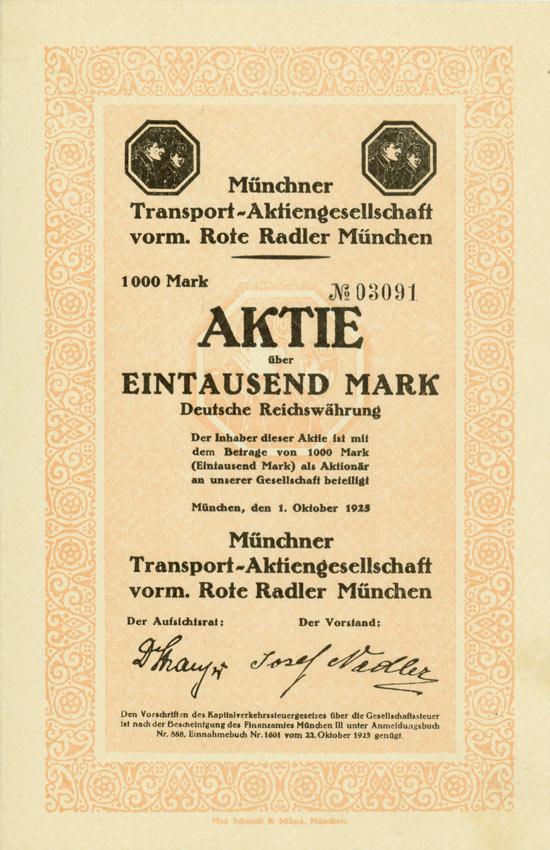 Münchner Transport-Aktiengesellschaft vorm. Rote Radler