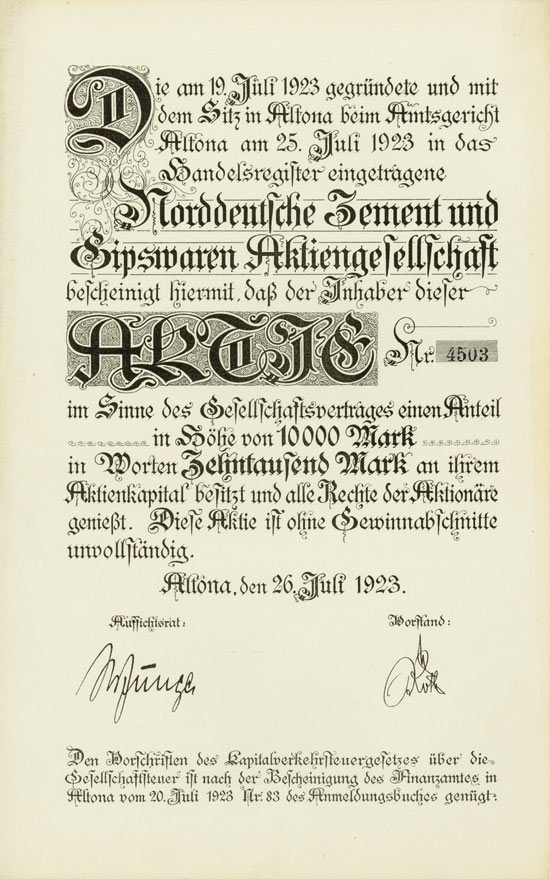 Norddeutsche Zement und Gipswaren AG
