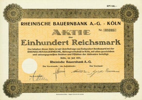 Rheinische Bauernbank AG