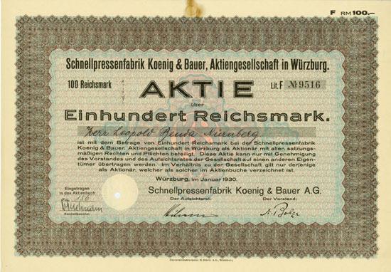 Schnellpressenfabrik Koenig & Bauer AG