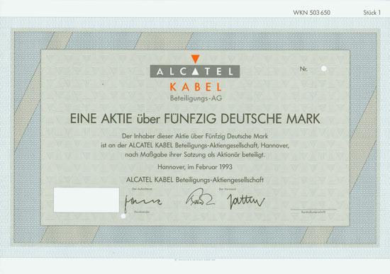 ALCATEL KABEL Beteiligungs-AG