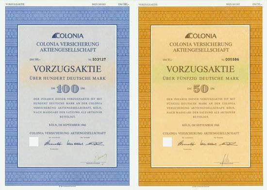 Colonia Versicherung AG [3 Stück]