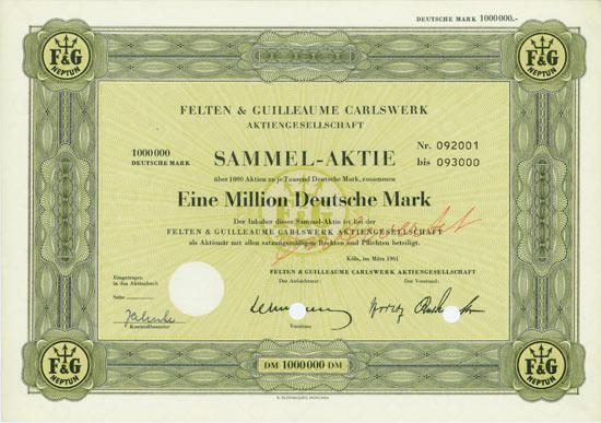 Felten & Guilleaume Carlswerk AG [Multiauktion 6]