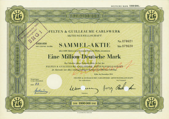 Felten & Guilleaume Carlswerk AG [Multiauktion 8]