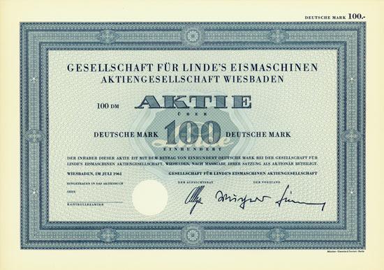 Gesellschaft für Linde`s Eismaschinen AG