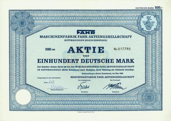 Maschinenfabrik Fahr AG