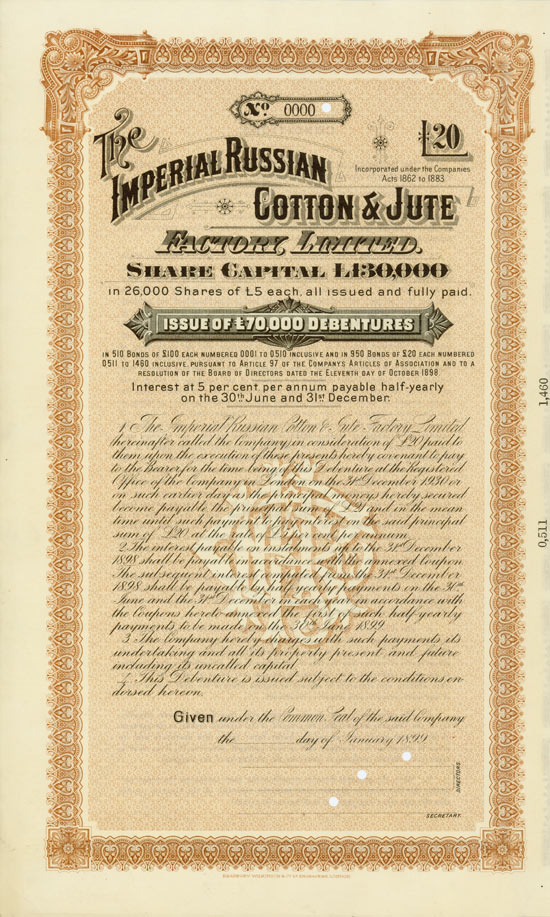 Imperial Russian Cotton & Jute Factory, Limited