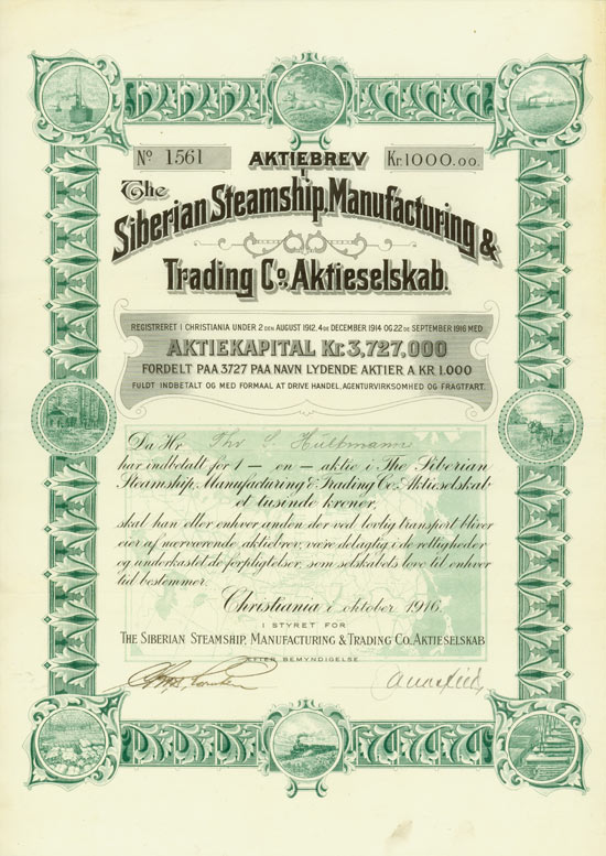 Siberian Steamship, Manufacturing & Trading Co. Aktieselskab
