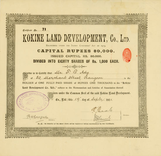 Kokine Land Development, Co. Ltd.