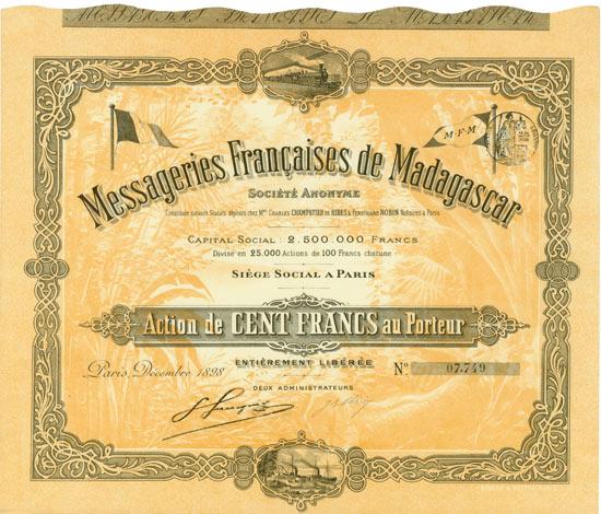 Messageries Françaises de Madagascar Société Anoynme