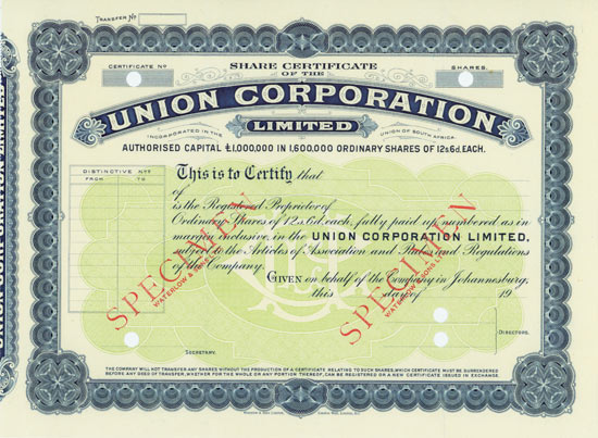 Union Corporation Limited