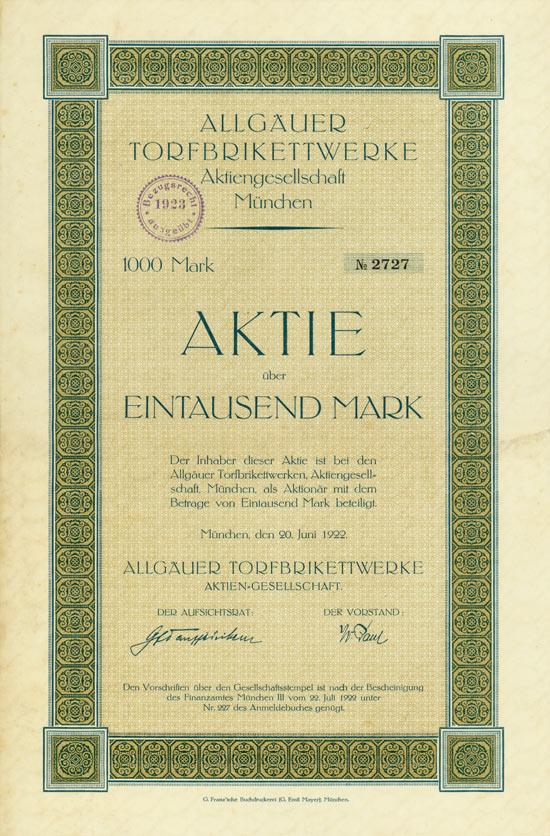 Allgäuer Torfbrikettwerke AG