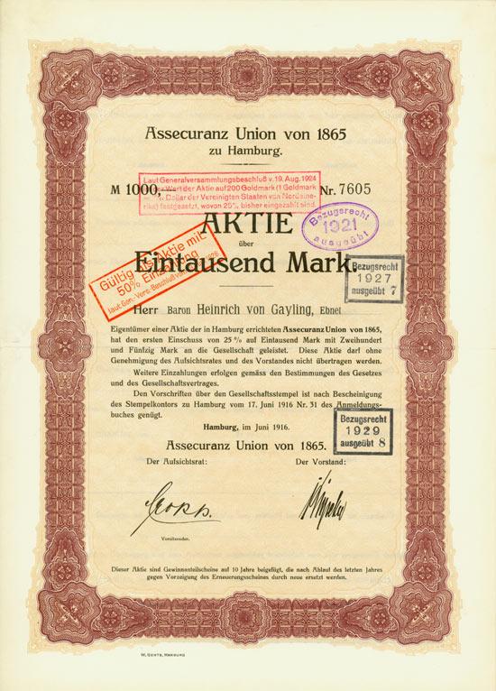 Assecuranz Union von 1865