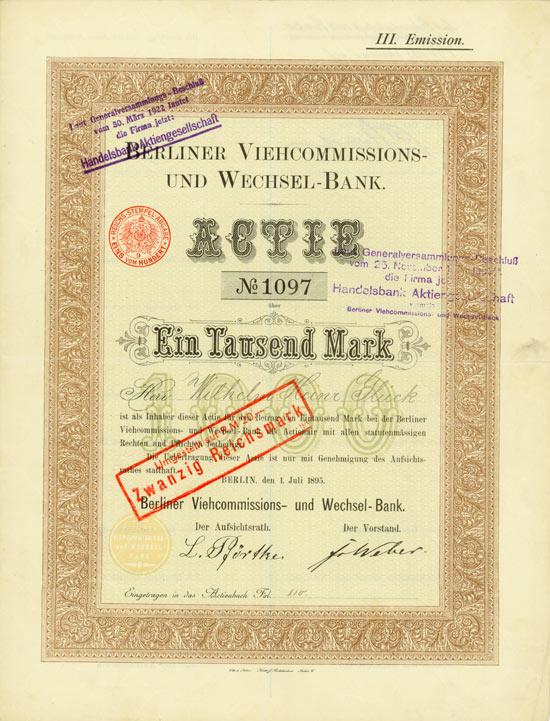 Berliner Viehcommissions- und Wechsel-Bank