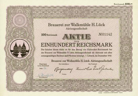 Brauerei zur Walkmühle H. Lück AG