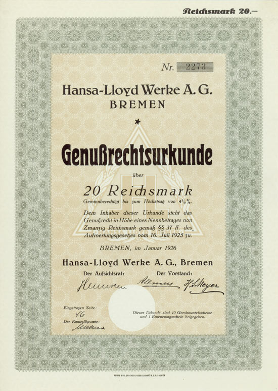Hansa-Lloyd Werke AG
