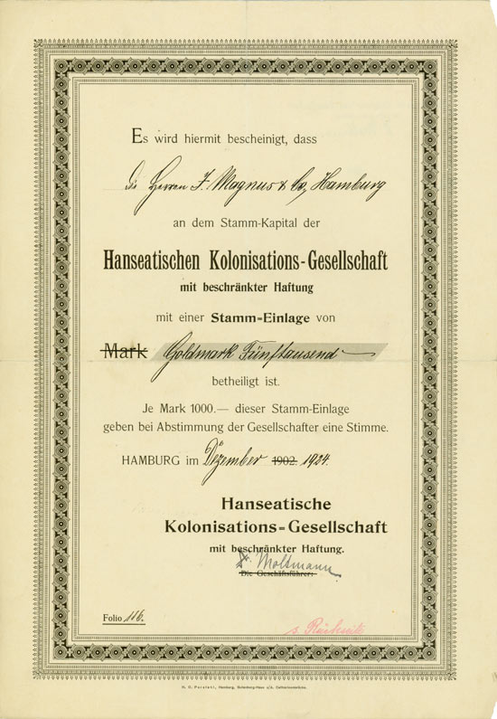 Hanseatische Kolonisations-Gesellschaft mbH