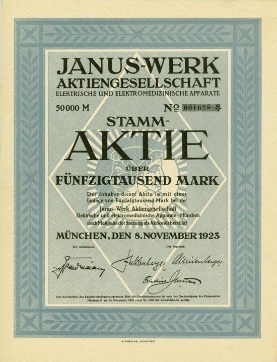 Janus-Werk AG elektrische und elektromedizinische Apparate
