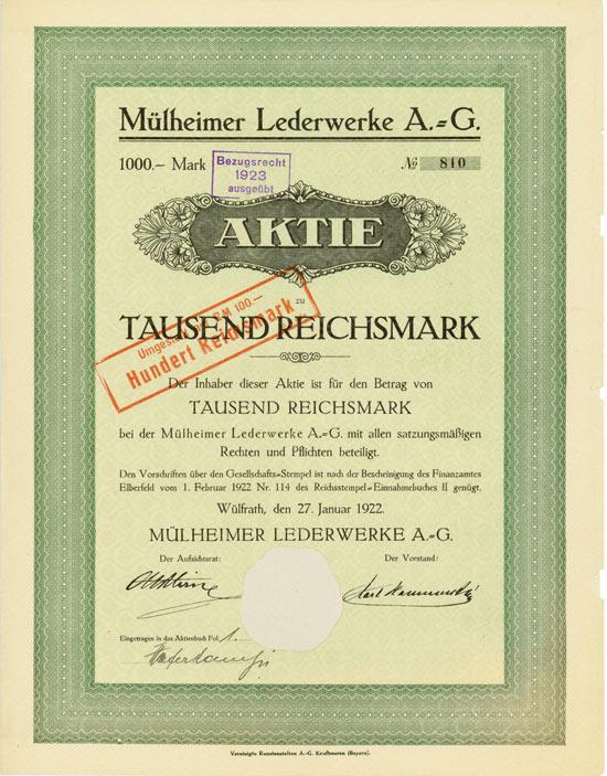 Mülheimer Lederwerke AG