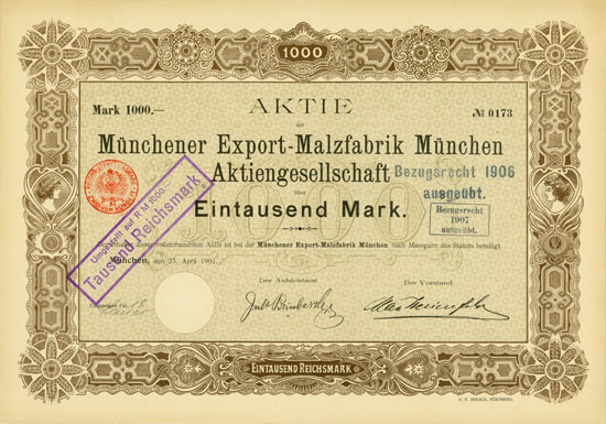 Münchener Export-Malzfabrik München AG