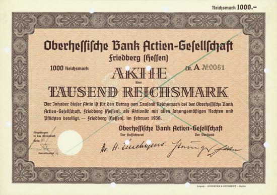 Oberhessische Bank AG