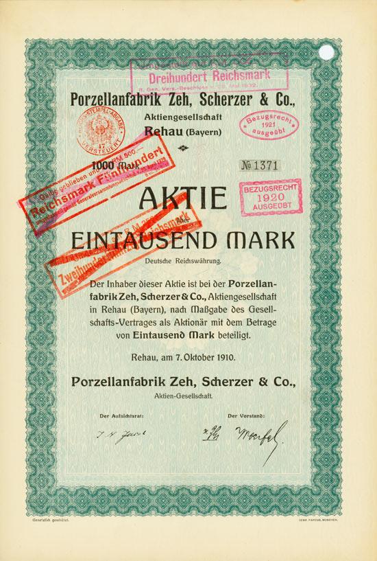 Porzellanfabrik Zeh, Scherzer & Co. AG