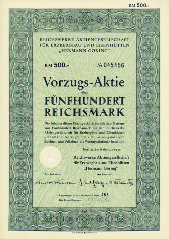 Reichswerke Aktiengesellschaft für Erzbergbau und Eisenhütten