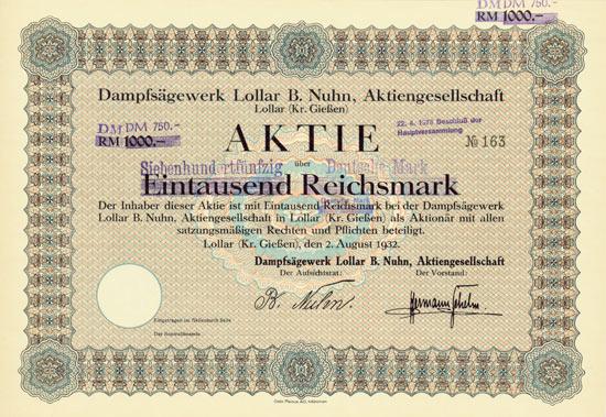 Dampfsägewerk Lollar B. Nuhn AG