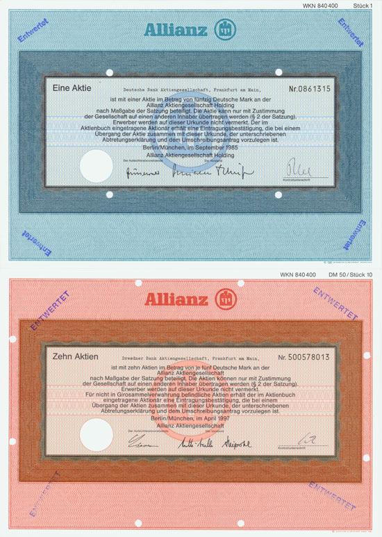 Allianz AG [3 Stück]
