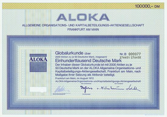 ALOKA Allgemeine Organisations- und Kapitalbeteiligungs-AG
