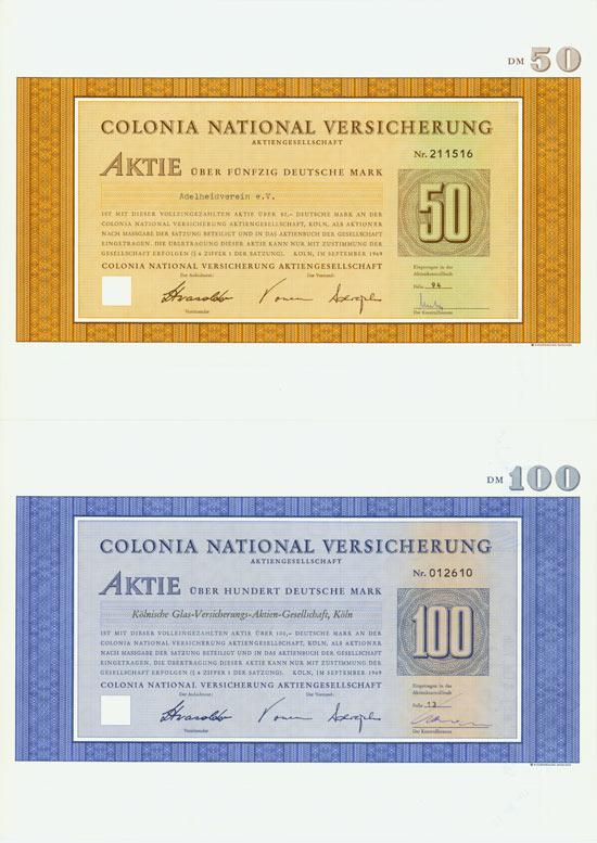 Colonia National Versicherung AG [3 Stück]