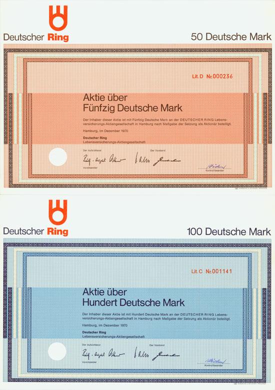 Deutscher Ring Lebensversicherungs-AG [6 Stück]