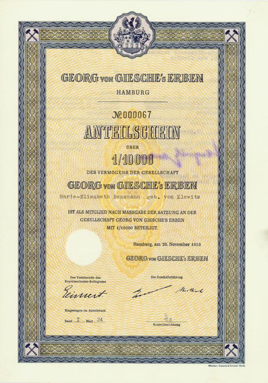 Georg von Giesche's Erben