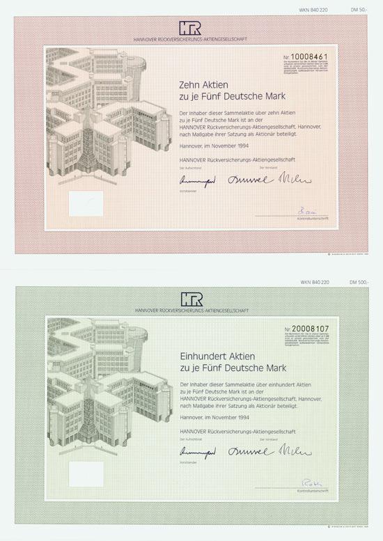 Hannover Rückversicherungs-AG [6 Stück]