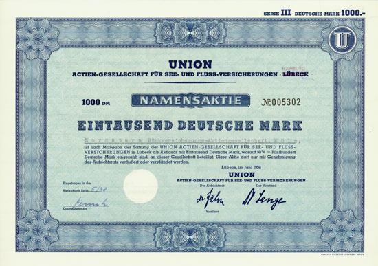 Union Actien-Gesellschaft für See- und Fluss-Versicherungen Lübeck (Hamburg)