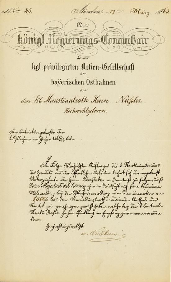 Kgl. Privilegirte Actien-Gesellschaft der bayerischen Ostbahnen