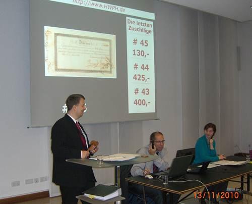 19. Auktion für Historische Wertpapiere