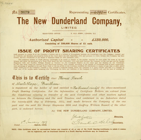 New Dunderland Company, Limited