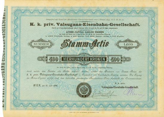 K. k. priv. Valsugana-Eisenbahn-Gesellschaft