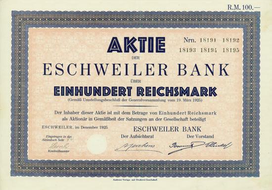 Eschweiler Bank