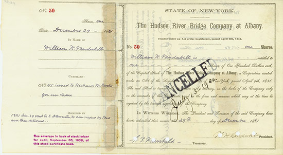 Hudson River Bridge Company at Albany