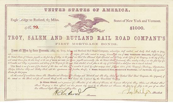 Troy, Salem and Rutland Rail Road Company