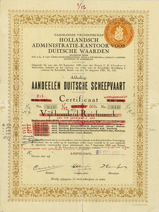 Naamlooze Vennootschap Hollandsch Administratie-Kantoor voor Duitsche Waarden