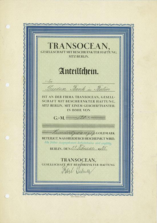 Transocean, GmbH