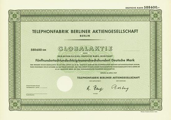 Telephonfabrik Berliner AG